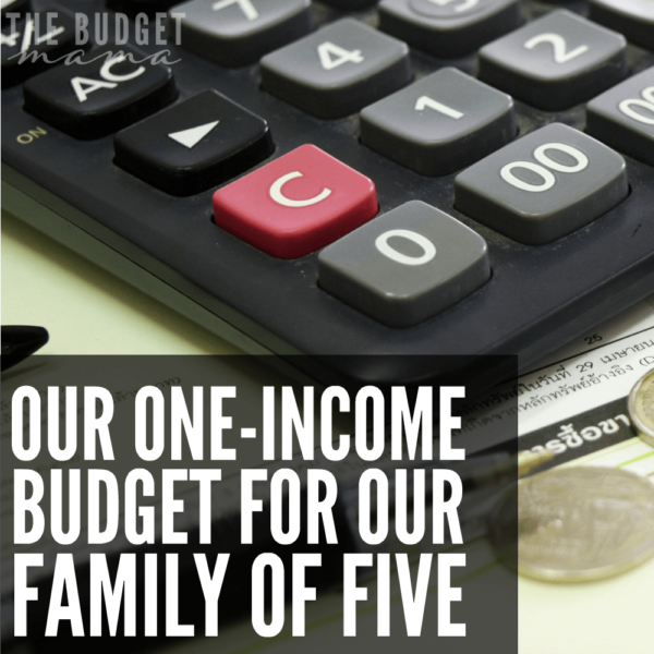 Our 2016 One-Income Budget for Our Family of Five