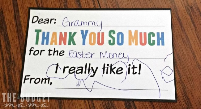 Grammy Thank You Note