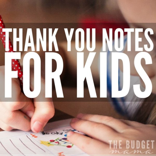 Thank You Notes for Kids – FREE Printable