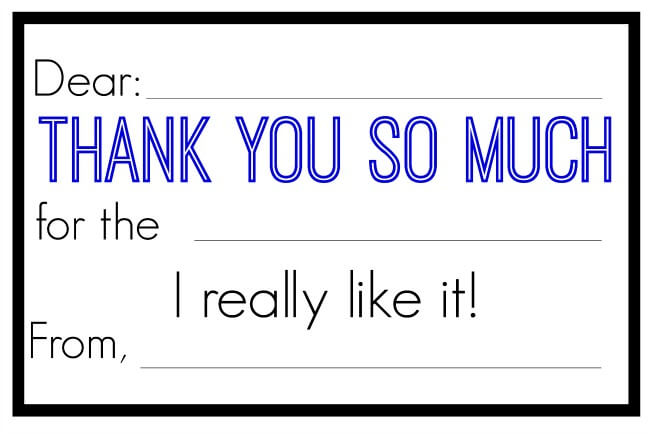 Thank You Notes for Kids - FREE Printable - Jessi Fearon