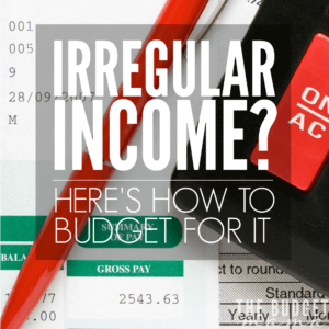 If you have irregular income you know how challenging it can be to budget for it. This is a simple way to make budgeting for your irregular income easier.