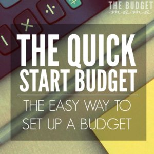 This quick start budget will make setting up a budget super easy especially if you've never set one up before. It's also perfect for the budgeting impaired. :)