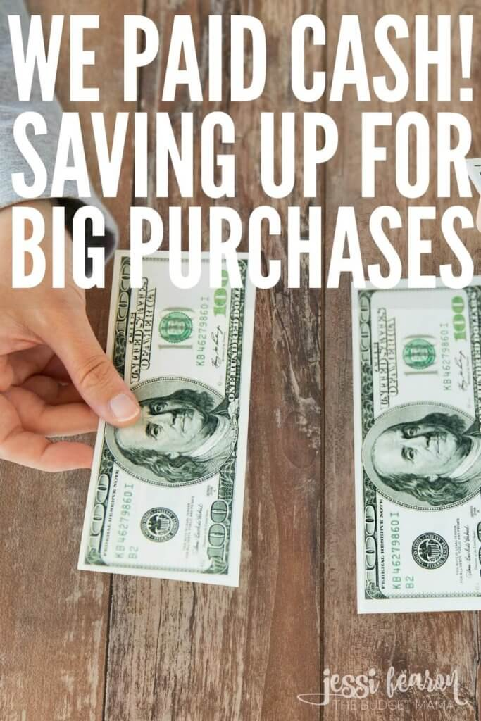 "Saving up for big purchases when you're on the debt-free journey can be a challenge but being able to say, ""We Paid CASH!"" is definitely worth the wait. These are just a few of the ways to make the wait a little easier."