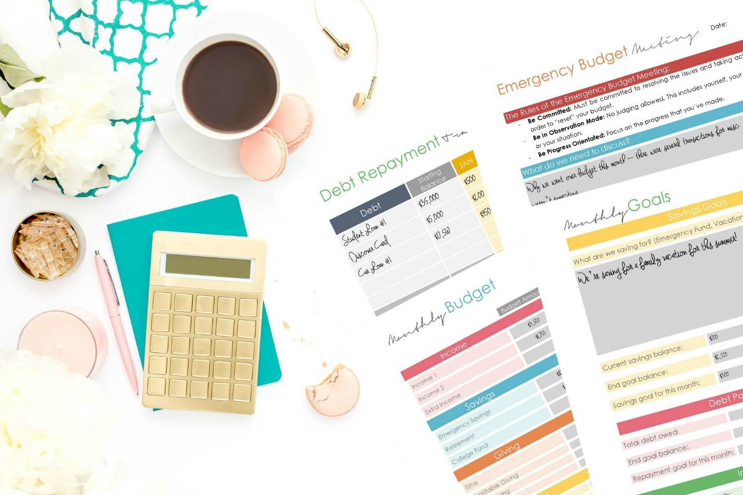 Looking for a budget planner for your real life? This printable budget planner is designed to fit your life - organize it however you see fit!