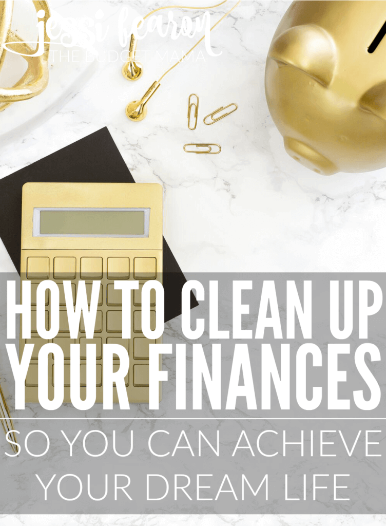 """""""How do I clean up my finances?"""" Is a question I'm often asked and it's a challenge for sure but not an impossible one. If I could do it so can you."""