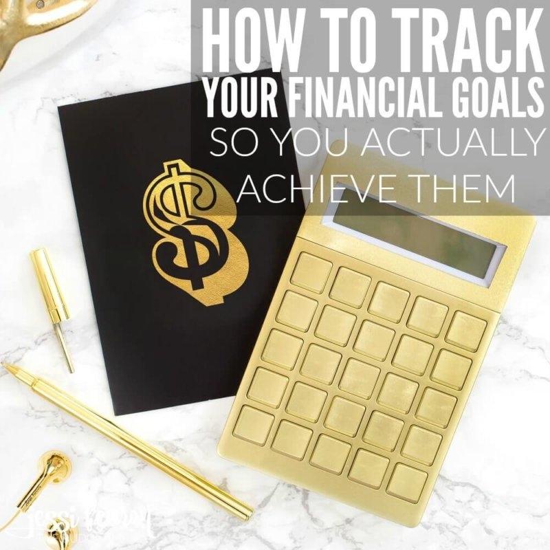 How to track your financial goals