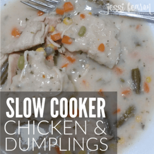 This slow cooker chicken and dumplings recipe is so gosh darn good you may be asked to make it every night! This recipe is mostly clean-eating and will make getting dinner on the table super easy on those busy weeknights!