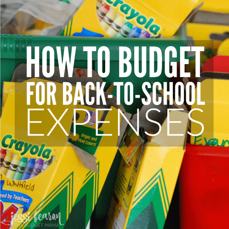How to budget for back-to-school expenses
