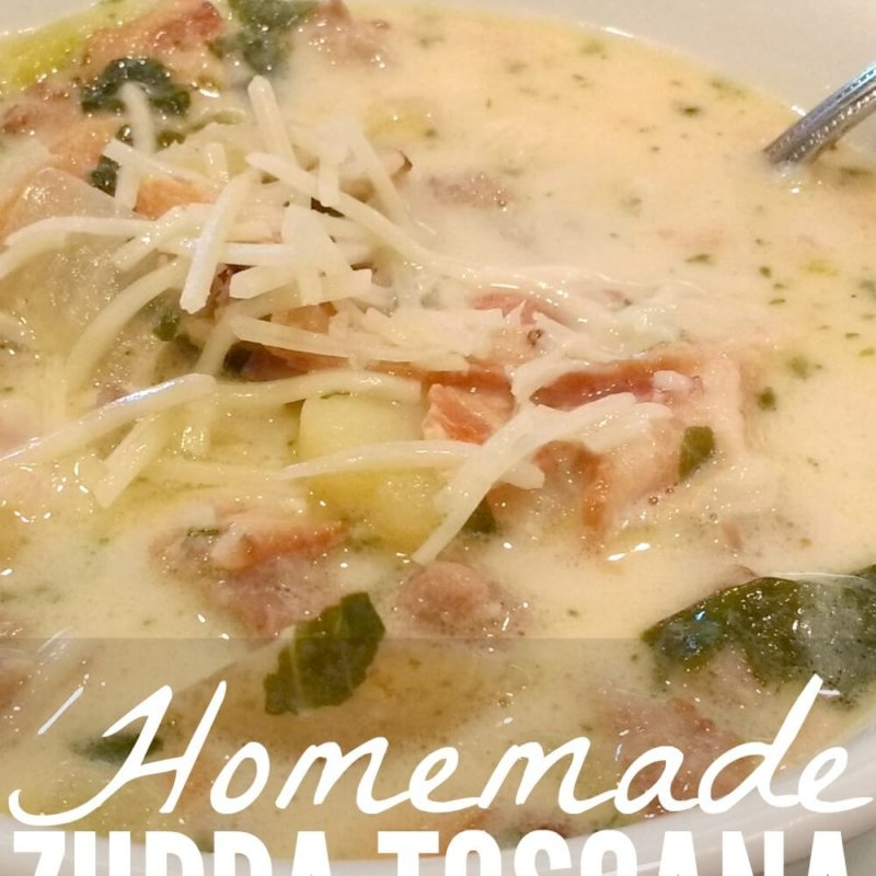Homemade Zuppa Toscana (a.k.a. My Husband's Favorite Soup)
