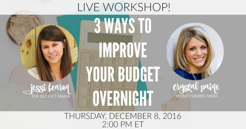 3 Ways to Improve Your Budget Overnight Webinar