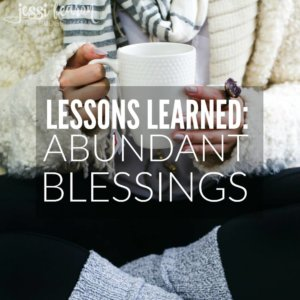 Caught up in too much? This is the perspective that I needed to see my abundant blessings.