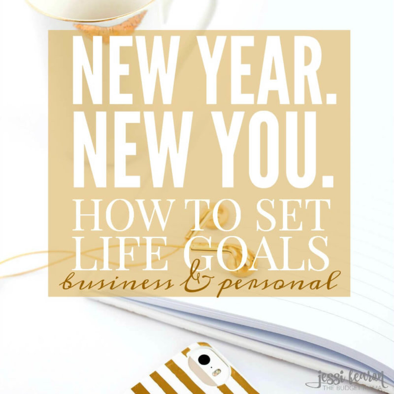 New Year. New You. How to set goals in life.