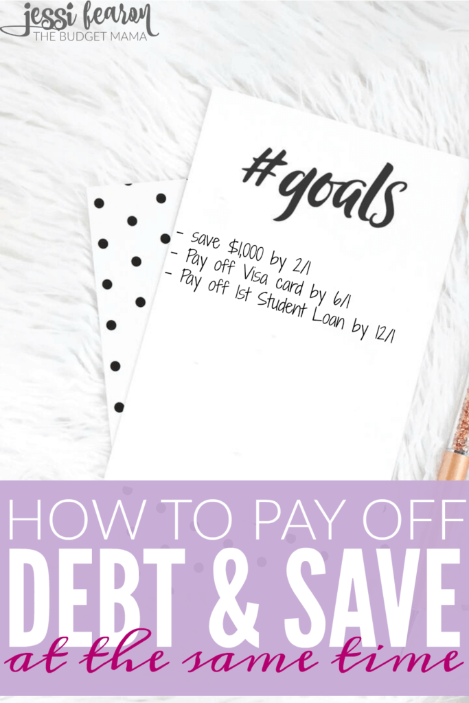In debt? Baby on the way? Want to pay off debt and save money at the same time? Believe or not, it's totally possible to live life, pay off debt, and save money.
