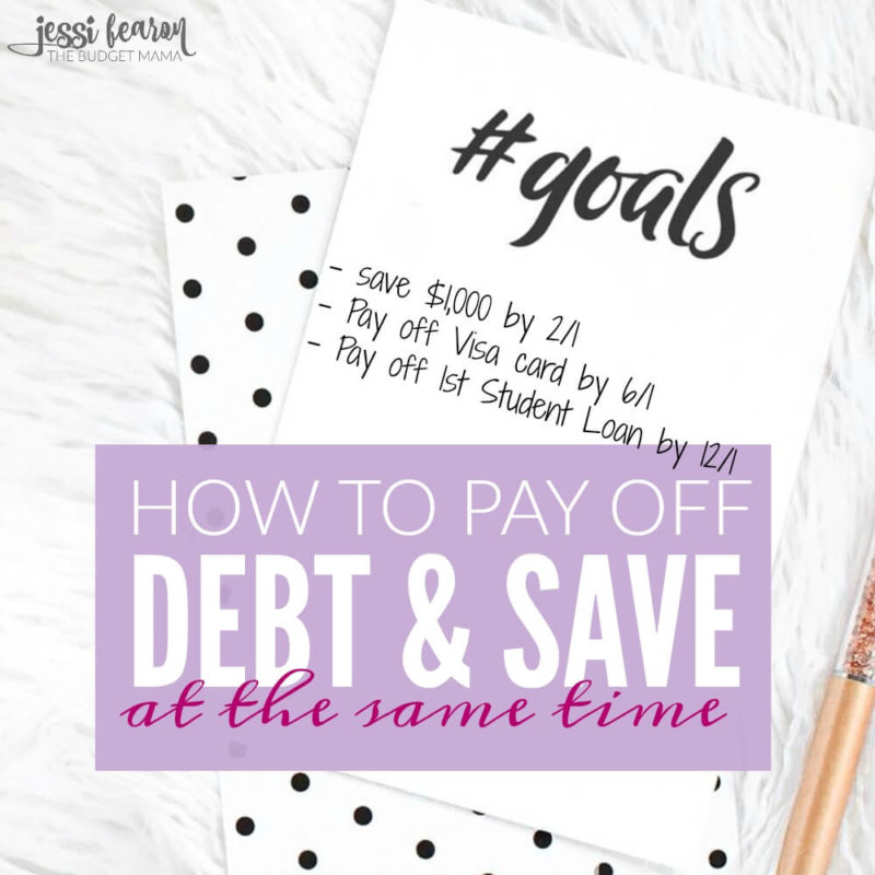 Yes, you can pay off debt and save money at the same time. Here's how.