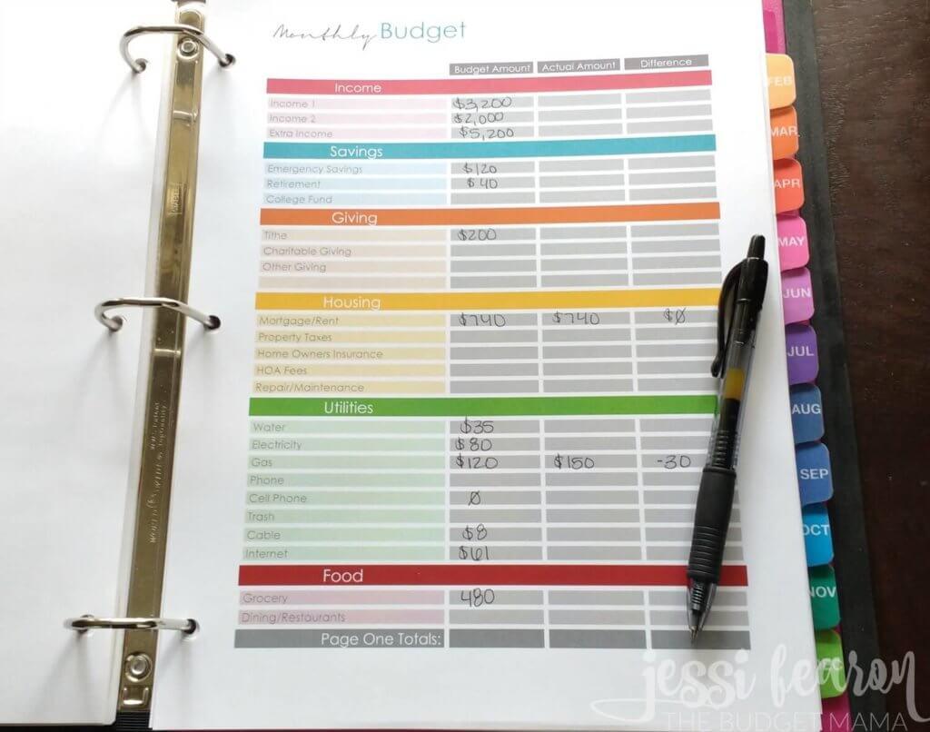monthly-budget-worksheet