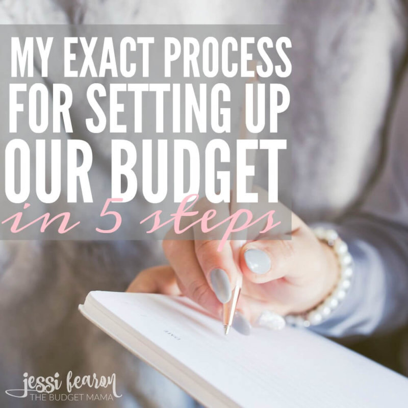 My Process for Setting Up Our Budget. How to create a budget in 5 steps.
