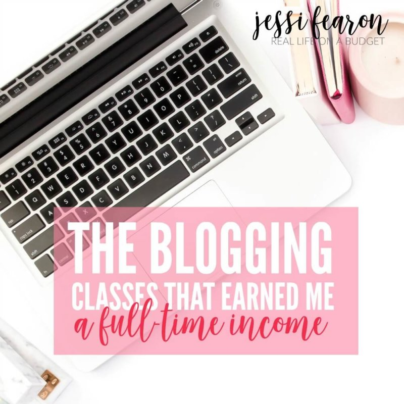 "It took me taking a ""blogging class"" before I started making real money with my blog. Now, after taking these three blogging classes I earn a full-time income from my blog."