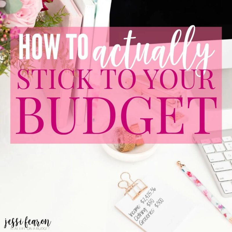 Wondering how to stick to your budget so you'll finally be successful with your money. Use this simple trick to make sticking to your budget easier.