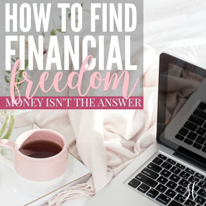 Money isn't the answer. How to find financial freedom