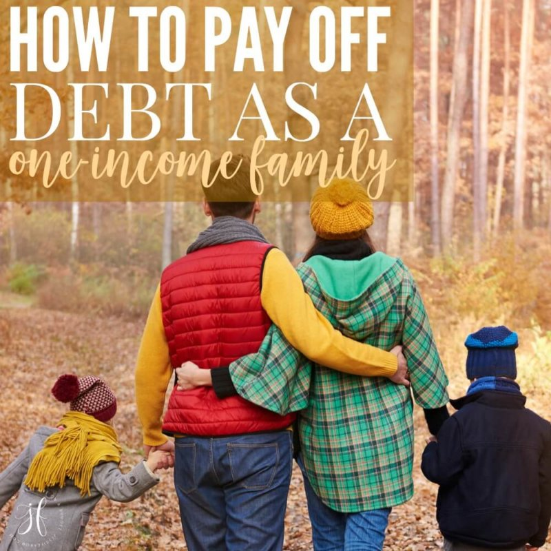 How to Pay Off Debt as a One-Income Family