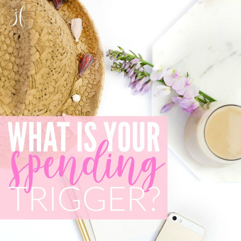 The key to preventing yourself from spending too much, is identifying your spending trigger. So if you're wondering how to stop spending money you don't have, this is how you figure it out.