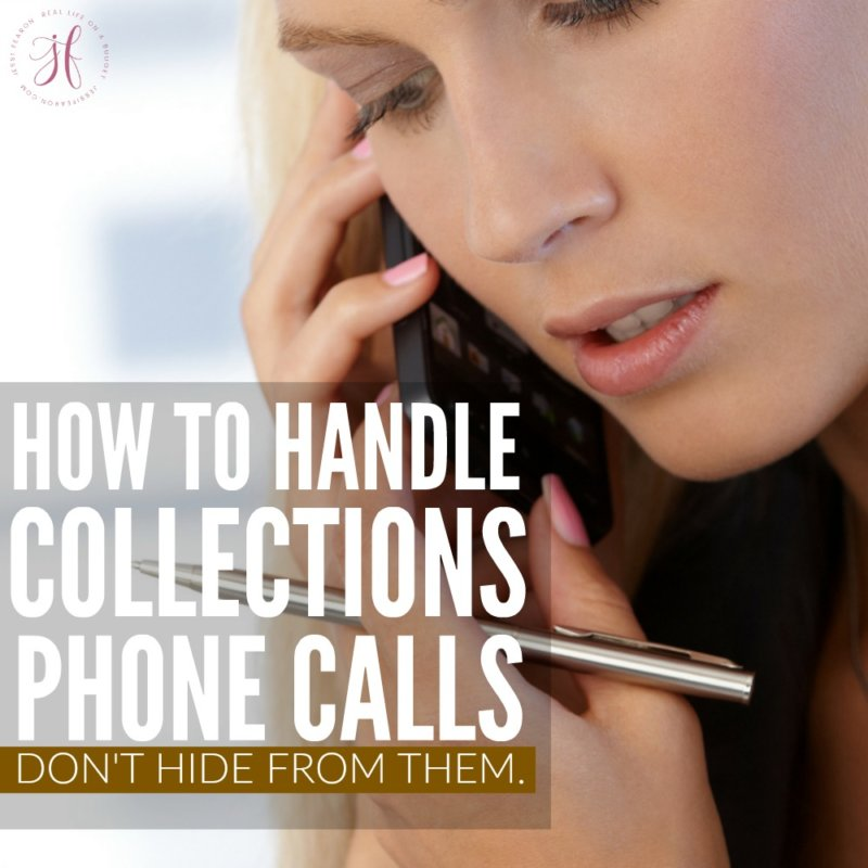 How to handle collection phone calls.