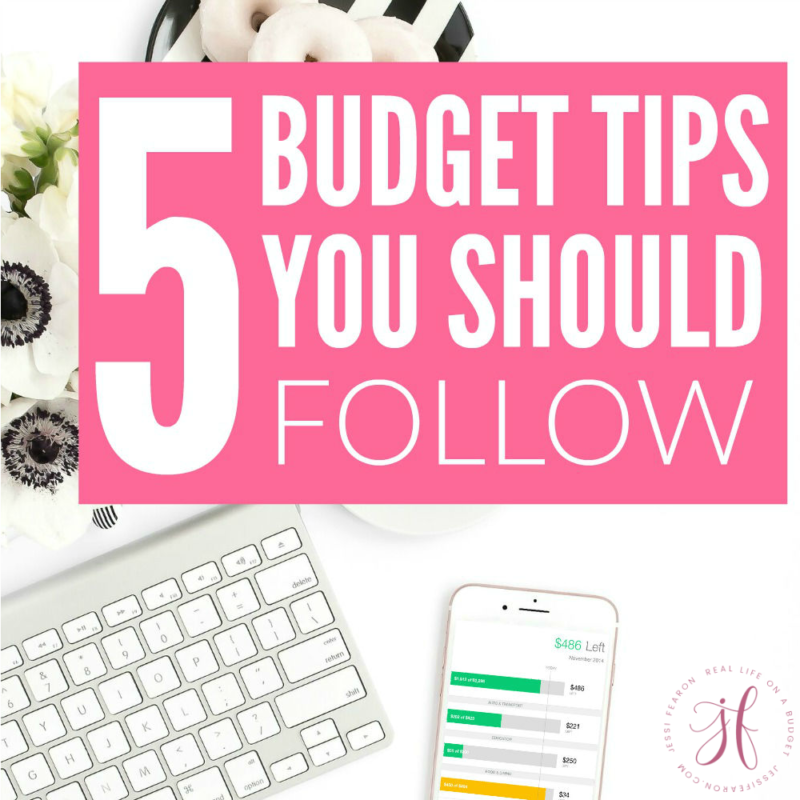 Figuring out what budget advice to follow is tough. These 5 tips will help you figure out exactly the budget tips you should follow and how to make the most out of your money.