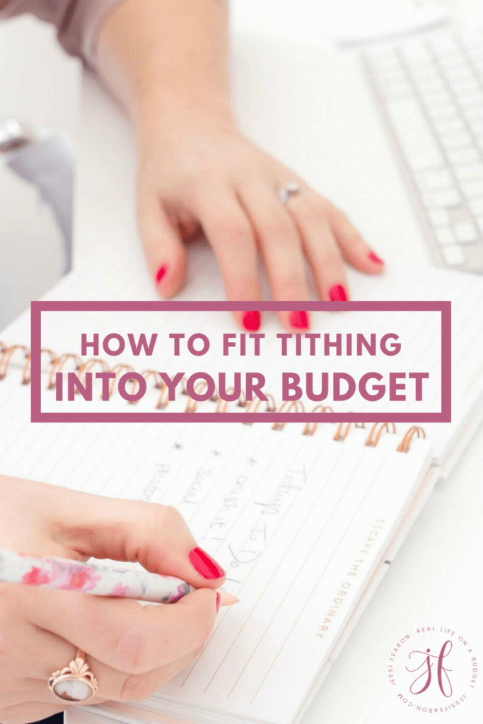 It's difficult to tithe when you feel as if your budget is already as tight as it can go. But if you're wondering how to fit tithing into your budget, this will help figure out a way!