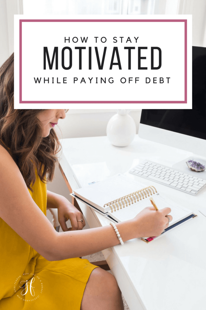 How to stay motivated while paying off debt; It's hard to pay off debt but staying motivated to pay off debt, doesn't have to be a challenge. You'll achieve your goal of debt freedom all you have to do is keep going.