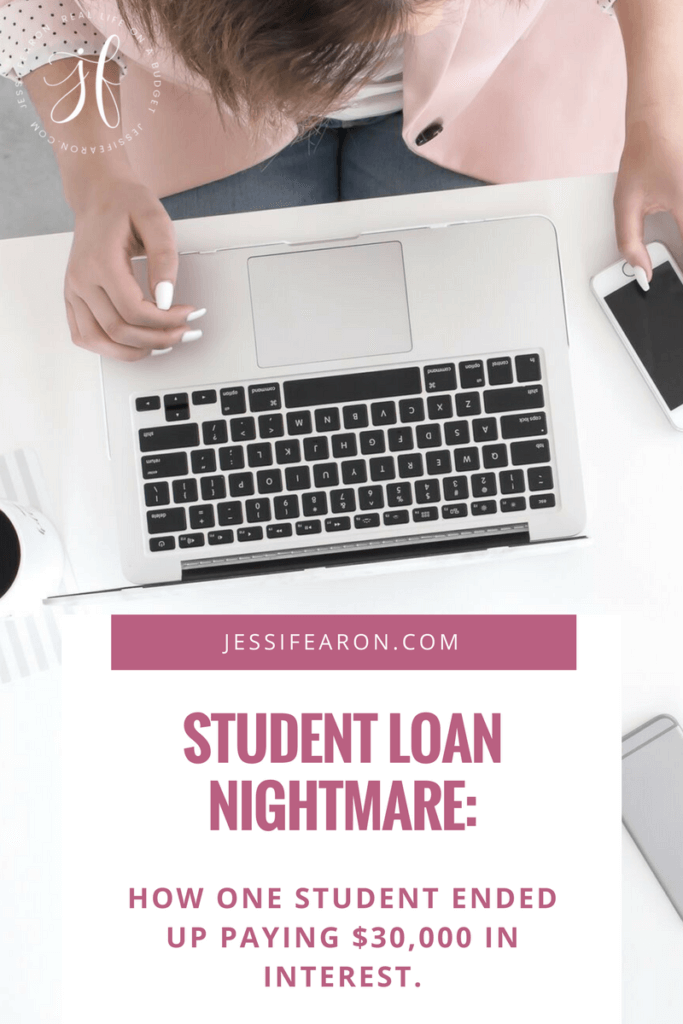 Have you been paying attention to your student loans? If not, you could end up paying tens of thousands of dollars in just interest! This girl did!