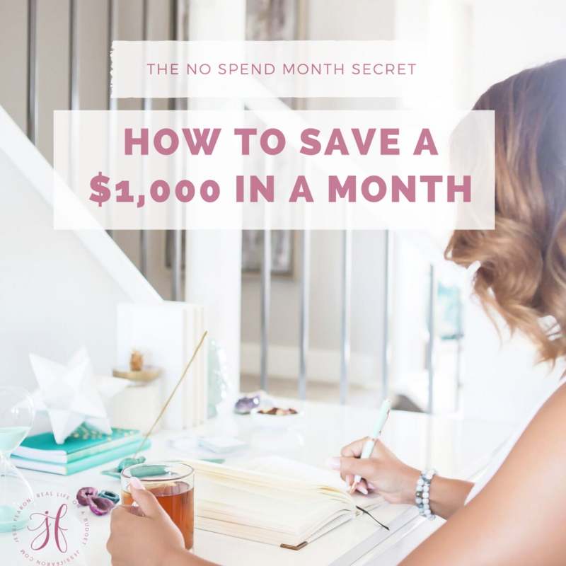 How to save a $1,000 in a month – the No Spend Month secret
