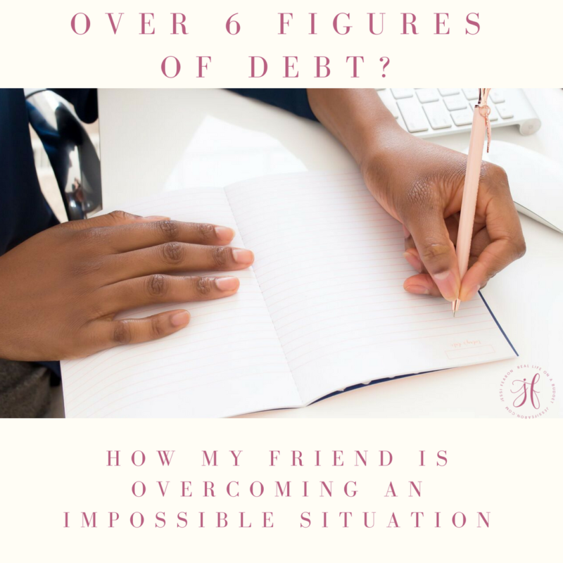 Over six figures in debt?? Here's how my friend is overcoming an impossible situation.