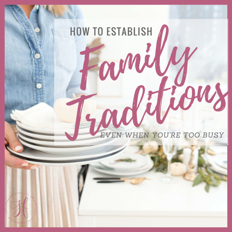 How to establish family traditions