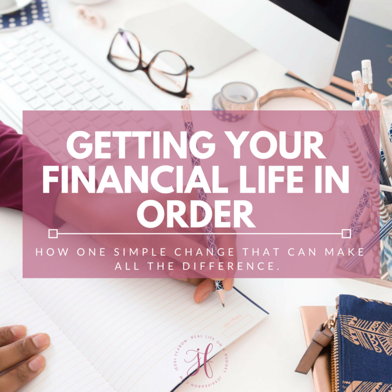 The key to getting your financial life in order