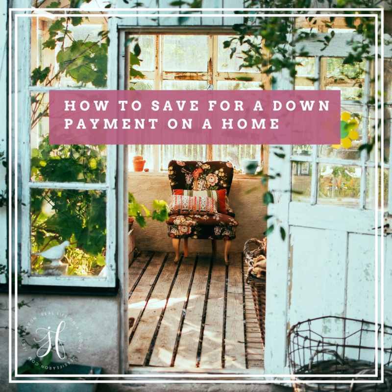 How to save for a down payment on a house