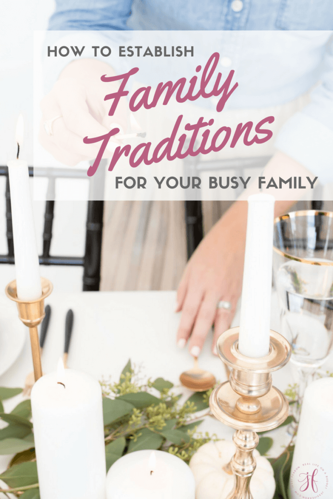 How to establish family traditions when you have a tight budget? It's actually easier than you might think.