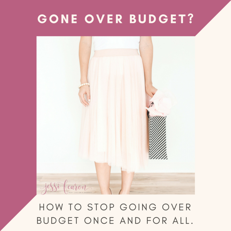 How to keep yourself from going over your budget.