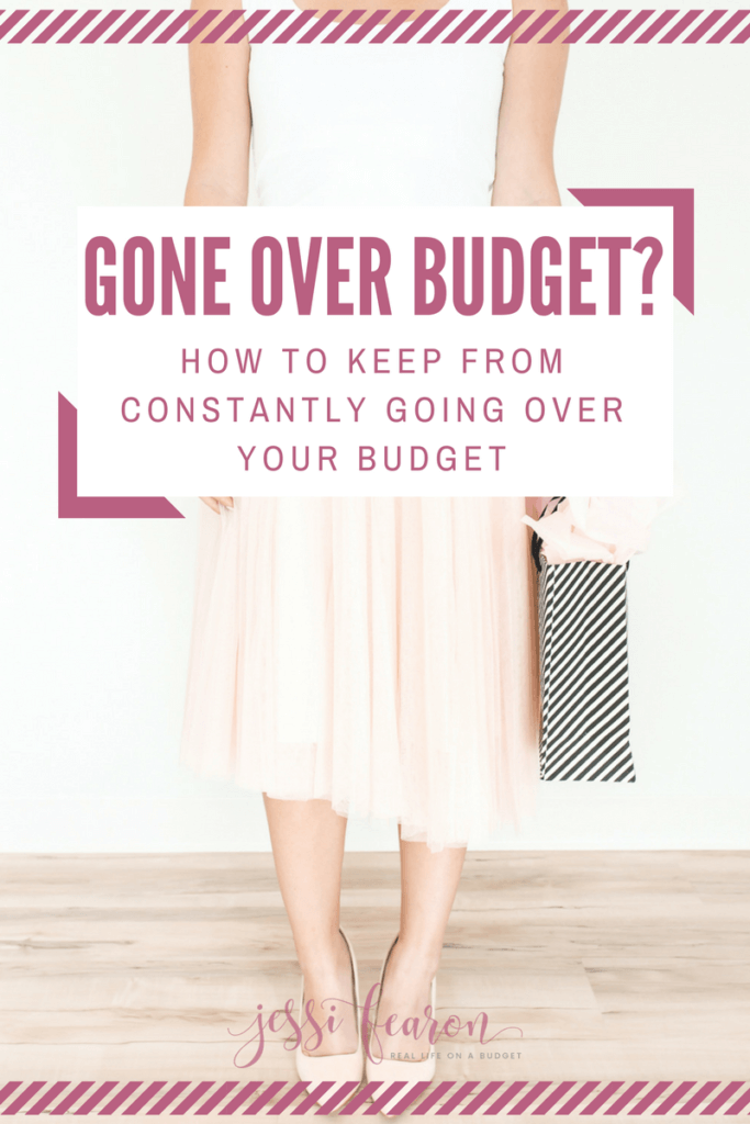How to stick to your budget; Go over budget? Frustrated because you can't seem to stick to your budget. How to stop going over budget may be a little bit easier than you might expect. It just takes knowing how you work with money.