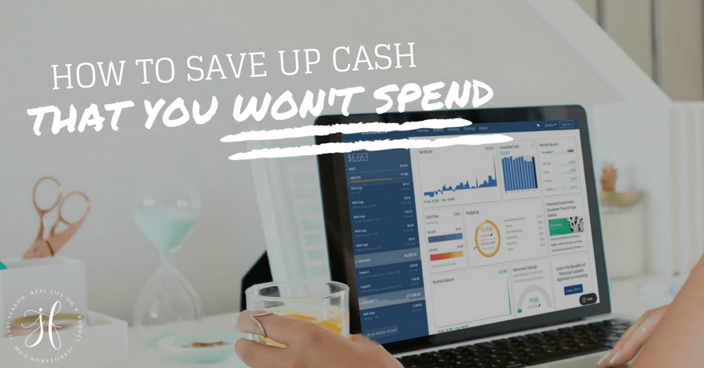 One of the best things you can do for your finances is to save up cash - some serious cash - in an emergency fund. But how to save up cash that you won't spend? Follow these steps and you'll make it happen!