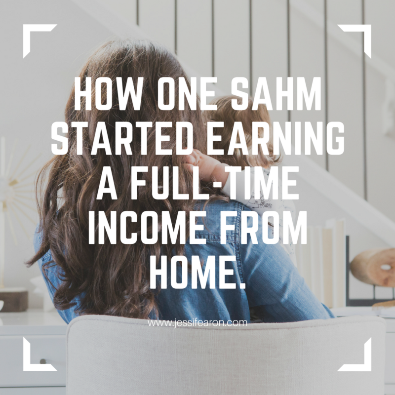 As a stay-at-home mom, I know how important it is earning an income from home. And I also know how challenging it can be. Here's my story for how I went from making barely anything to earning a full-time income.