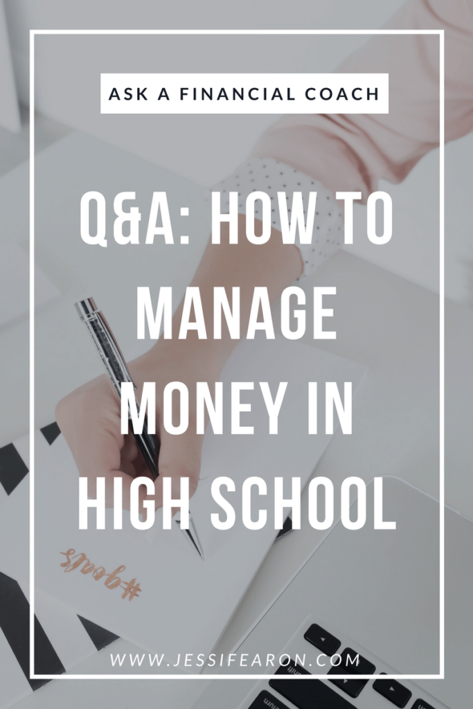 A financial coach answers these high school students most asked questions about managing money. Make sure you share this money advice for high school students with your student!