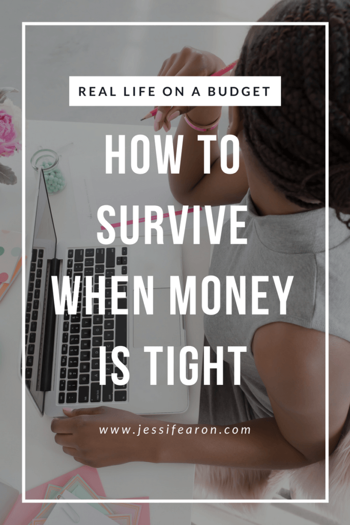 What do you do when money is tight? How do you survive - especially when you have a family to care for? Here are some steps to take to get you back in control of your money.