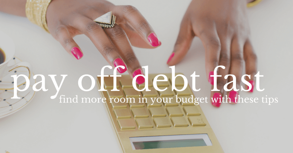 Paying off debt fast can be made possible with just a few tweaks to your budget in order to create more room in your budget. If you need to get out of debt fast, make sure you implement these strategies today to get started.