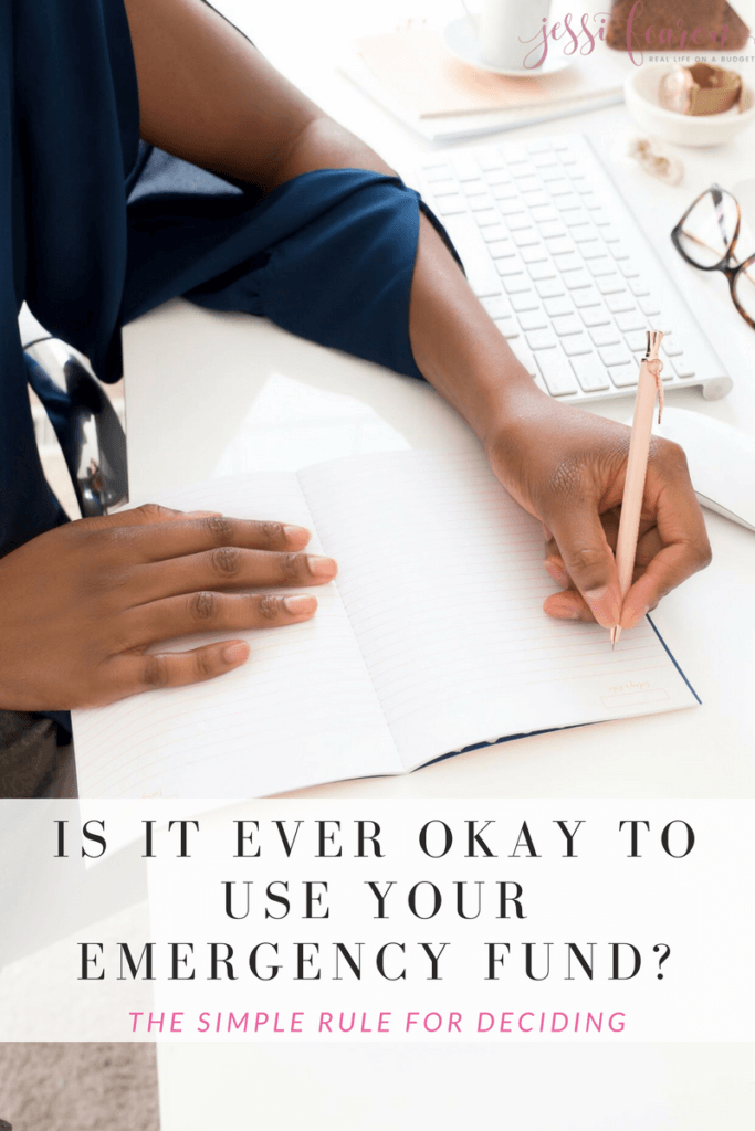 "When do you use your emergency fund? Yes, you should use it for emergencies only but real life sometimes gets in the way. So, is there an ""okay"" time to use your emergency fund when it's not really life or death?"