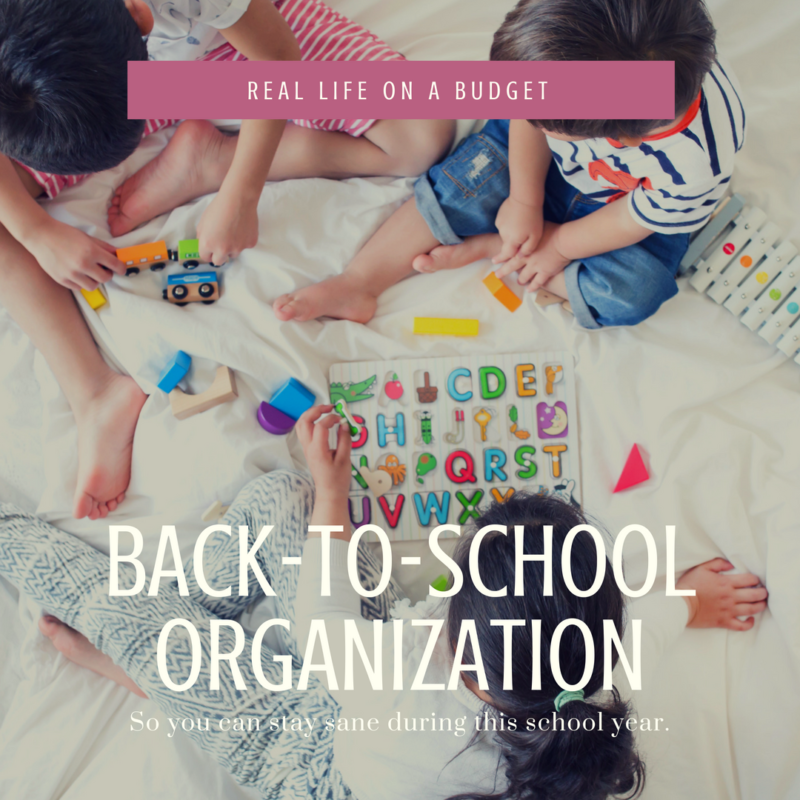 Back to School Organization (so you can keep your sanity)