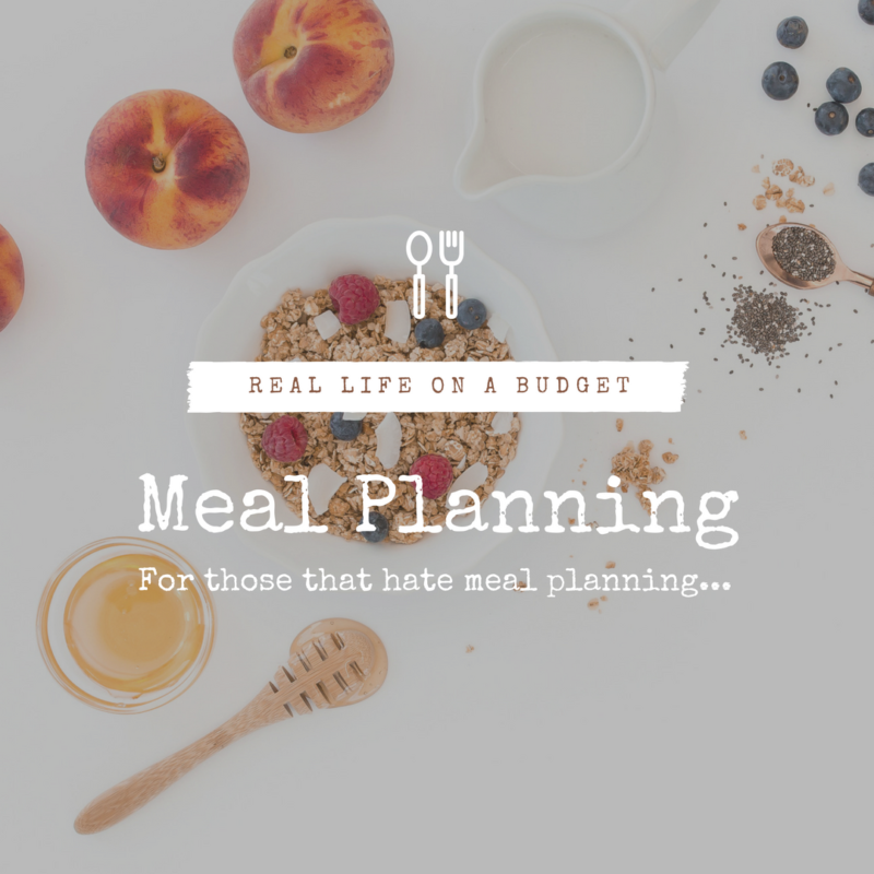 Meal planning for those that hate meal planning