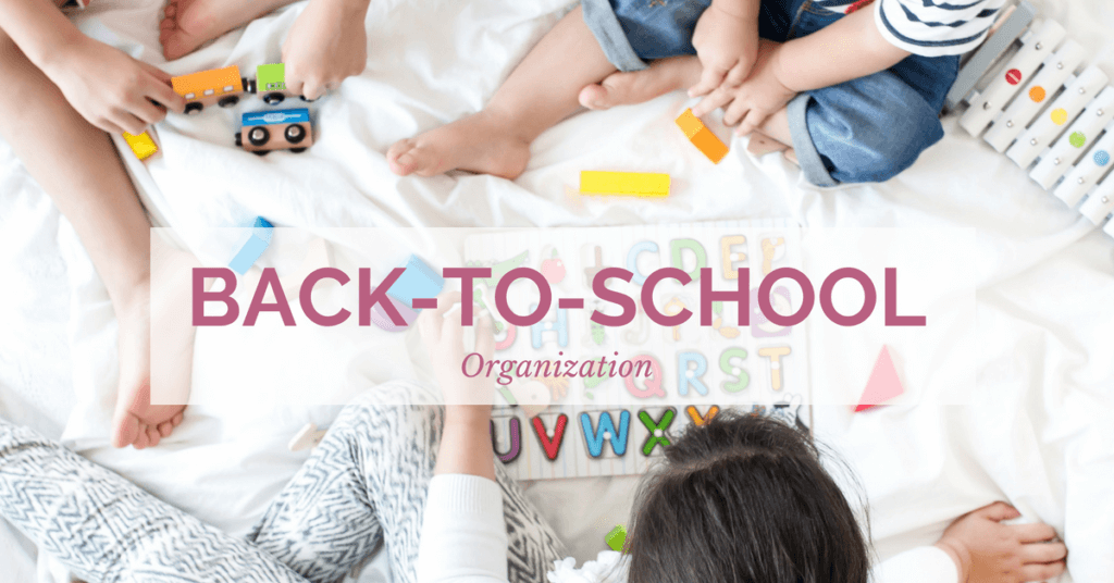 Struggling with back to school organization? Here are just a few simple hacks that you can try to give your household a little peace for back to school time!