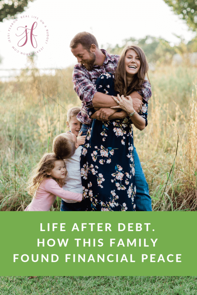 For this family five, the key to their financial peace has been a radical change in lifestyle. They found peace in life after debt and your family can experience that same peace. #debtfree #budget #mom #family #daveramsey #financialpeace