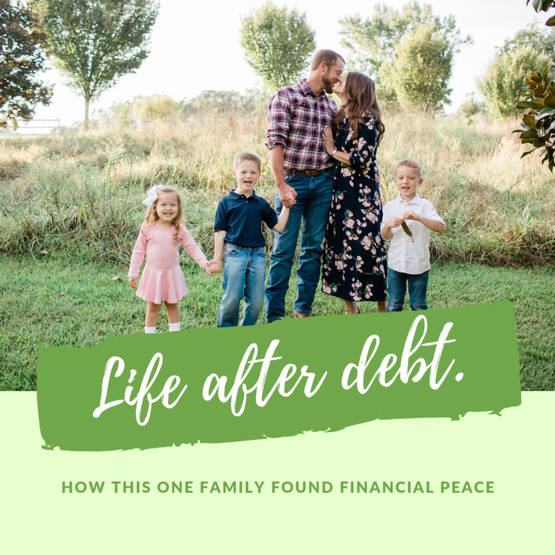 For this family five, the key to their financial peace has been a radical change in lifestyle. They found peace in life after debt and your family can experience that same peace.