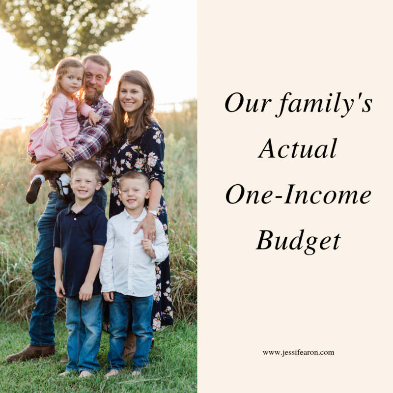 Yes, this is our family's actual one-income budget for our family of five. And yes, you may not like how our budget is set up but hopefully it will give you insights into how you manage your own money.